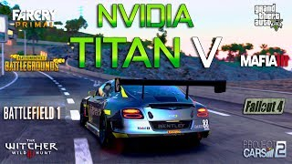 NVIDIA TITAN V Test in 8 Games 4K (i7 8700k)