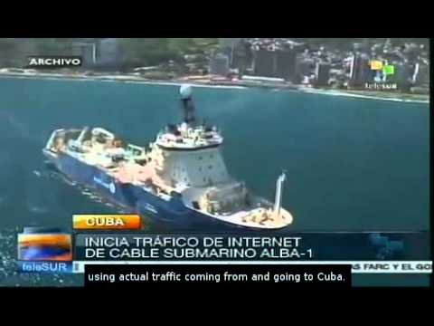 ALBA-1 submarine cable to improve Internet quality in Cuba