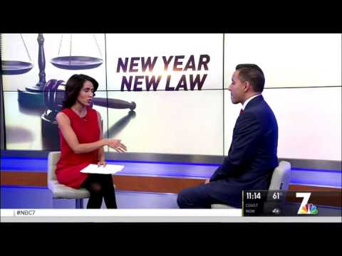 San Diego Criminal Lawyer Vikas Bajaj Featured on NBC 7 Regarding New Laws for 2017
