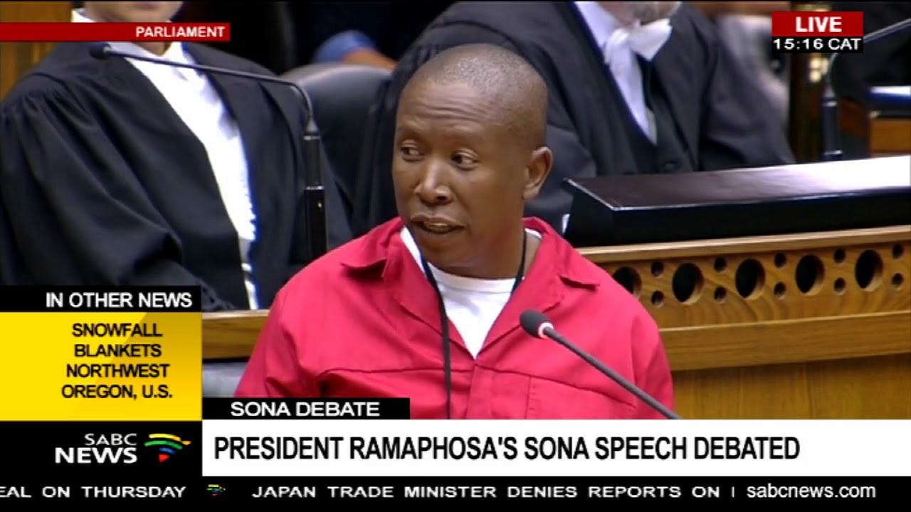 EFF's SONA debate - Julius Malema