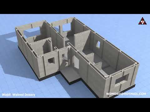Consolidated Contracttors Companys 3D Concrete Printed House Using CyBe Robotic Arm