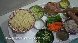 Chicken Chow Mein Recipe - Chinese Noodles