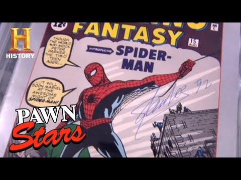 Pawn Stars: Stan Lee's Signed Spider-Man Sketches (Season 7) | History