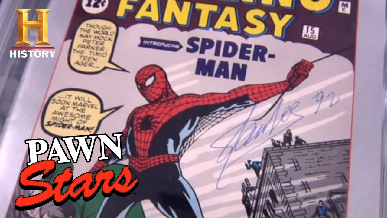 pawn stars stan lees signed spiderman sketches season