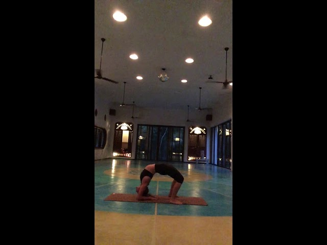 Backbend drill with cervical + thoracic strengthening - advanced techniques @ Holistika Tulum