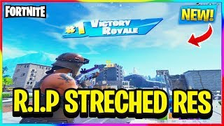 *NEW* STRECHED RES IS GETTING PATCHED! | Fortnite Battle Royale News