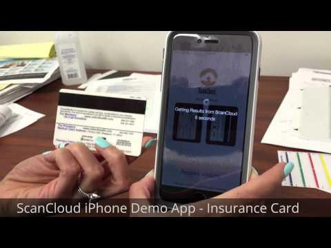 ScanCloud iPhone Demo App - Insurance Card