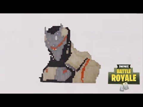 Comment Dessiner Omega De Fortnite Pixel Art