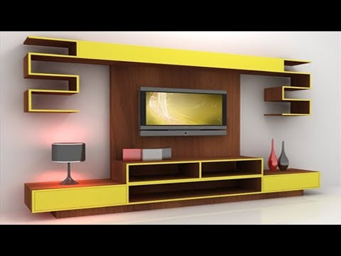 30 Mosdern Wall Mounted LED TV Cabinet Designs 2017 LCD Stand Ideas