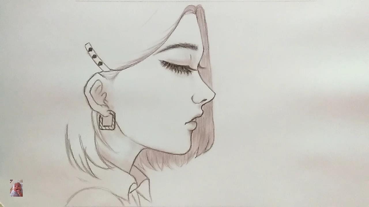 Vẽ cô gái xinh đẹp bằng bút chì cực dễ – Drawing beautiful girls with a pencil is very easy;Anime.