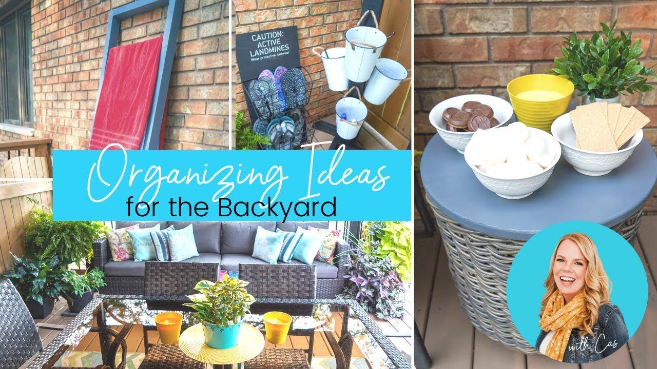 5 Easy Backyard Organizing Ideas