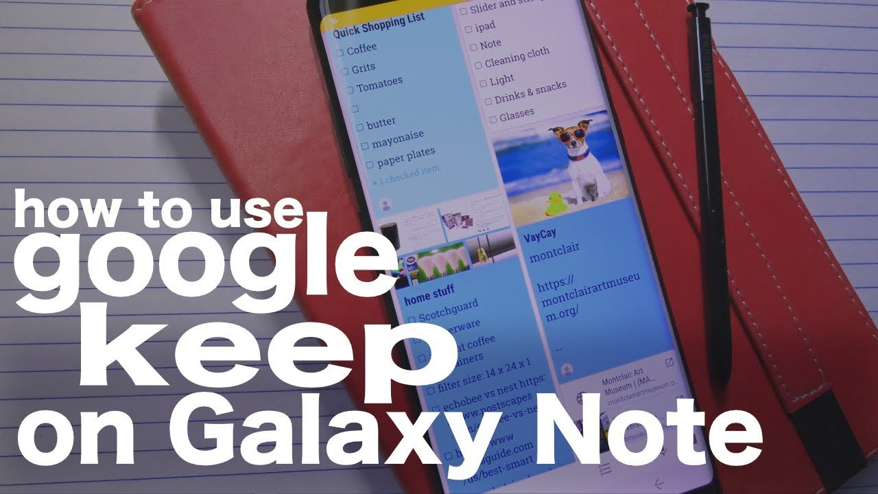 Using Google Keep on Galaxy Note