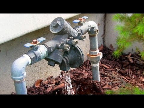 How to fix a leaking backflow preventer - repair Zurn