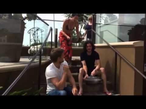 Lena Headey, Kit Harington & Nikolaj Coster-Ice Bucket Challenge