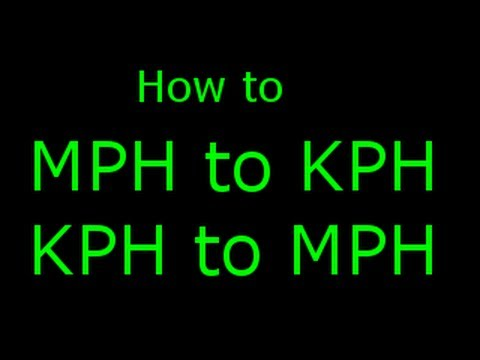 How To Calculate Mph To Kmh And Kmh To Mph Youtube