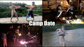 【vlog】大人カップルが超自然の中でキャンプデートしたら最高すぎた【水着】
