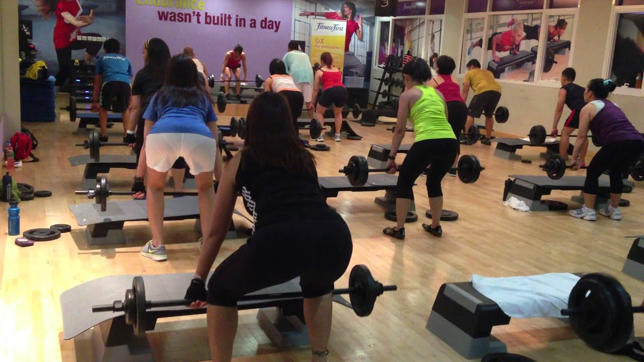 Body Pump @ Fitness First Donna, Ana, Shiela - YouTube