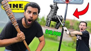This UNBREAKABLE LINE-X Pinata Is Filled With $10,000!! First To Break It Takes All The Money!!