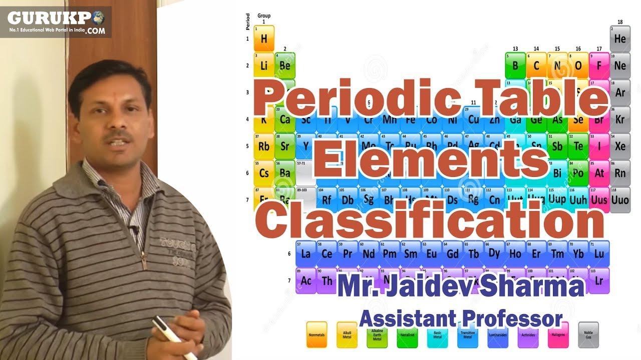 Periodic table elements classification b i gurukpo youtube periodic table elements classification b i gurukpo urtaz Image collections