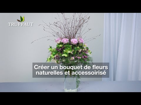 art floral comment faire un bouquet de fleurs naturelles jardinerie truffaut tv youtube. Black Bedroom Furniture Sets. Home Design Ideas
