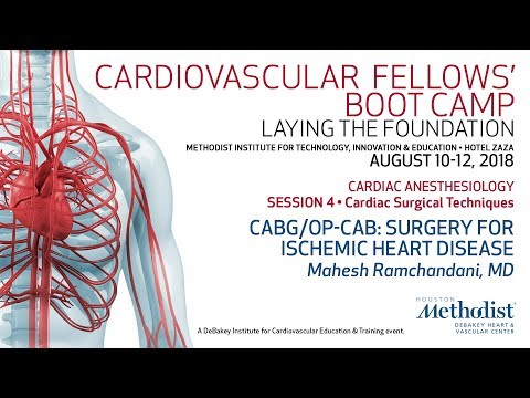 CABG/OP CAB: Surgery For Ischemic Heart Disease (Mahesh Ramchandani, MD)