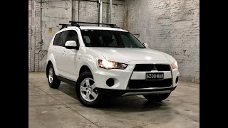 2011 Mitsubishi Outlander ZH MY11 LS 2WD White 6 Speed Constant Variable Wagon #49690