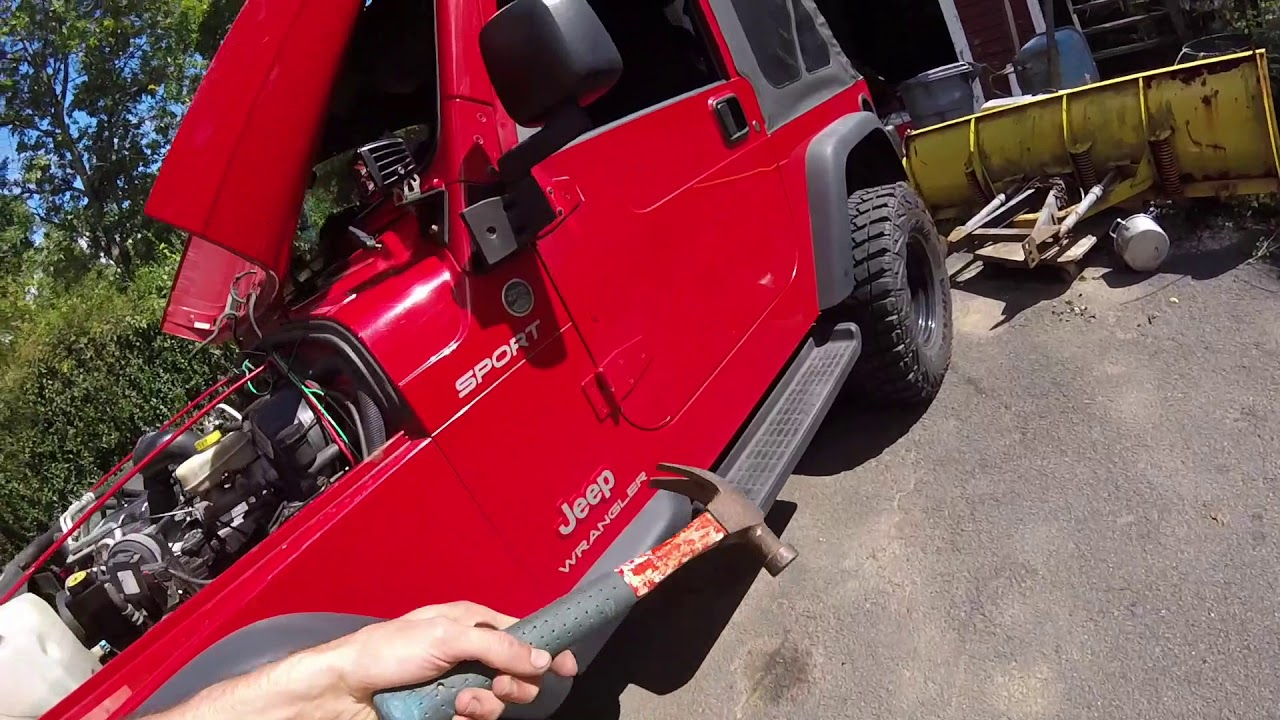 medium resolution of diagnosing and replacing starter motor solenoid jeep wrangler tj