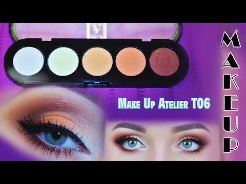 ИЗ АРХИВА: Оранжевый макияж. Палитра Make Up Atelier T06. Ladydg87ukr