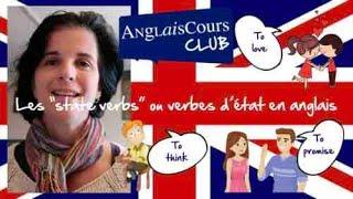 Les State Verbs En Anglais Youtube