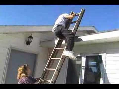 Paraplegic Climbs Ladder Onto Roof Youtube