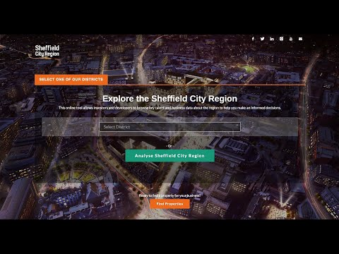 Tour the Sheffield Region (UK) online site selection data tool