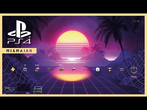 Retro Synthwave - Xposed | PS4 (Dynamic Theme) HD