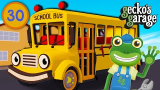 Gecko Fixes A School Bus | Gecko's Garage | Buses For Children | Educational Videos For Toddlers