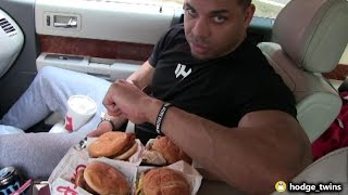 Full Day Of Eating Day #1  | First Official Day Of Shredding| @hodgetwins