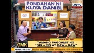 """Tamang Pag Gamit Ng """"Din / Rin"""" At """"Daw / Raw""""   Alam Mo Ba"""