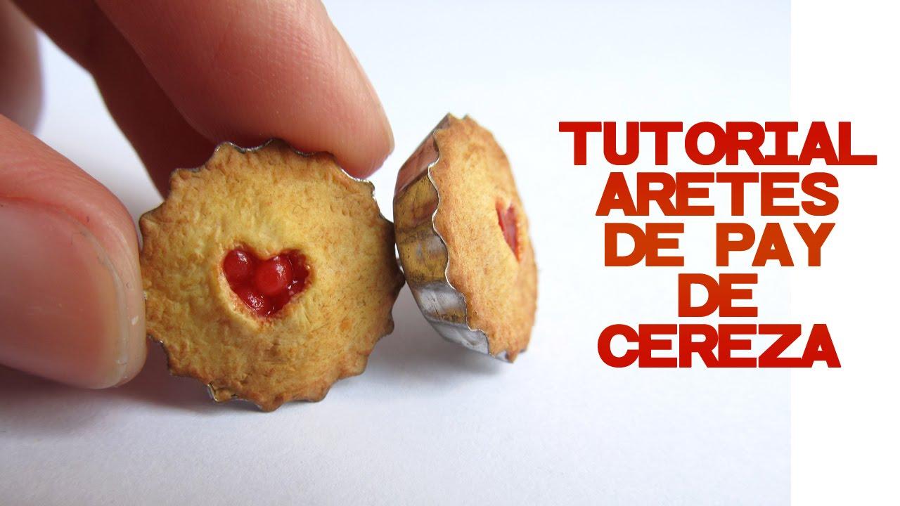 Aretes de tarta de cereza - Tutorial de arcilla polimérica por Talty ...