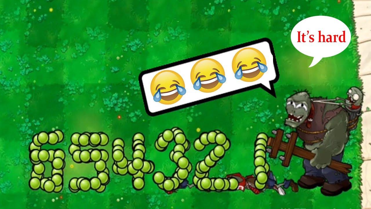 Immovable Pea vs All Zombies!Pvz Troll Moment - Plants vs Zombies