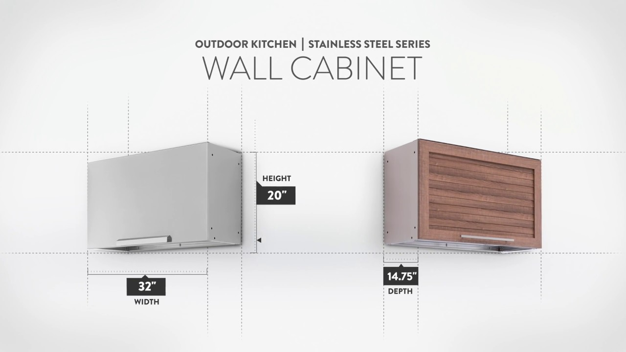 Outdoor Kitchen | Stainless Steel | Wall Cabinet