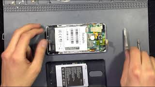 Bravis A504 Trace Dual Sim how to disassembly, preparing for touchscreen replacing