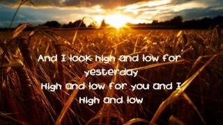 Lyrics High and Low by Greg Laswell