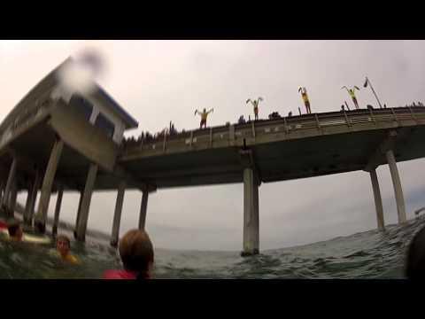 San Diego Junior Guards Ocean Beach Pier Jump - 7/8/2013
