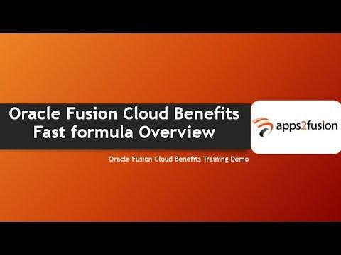 Oracle Fusion Cloud Benefits Fast formula