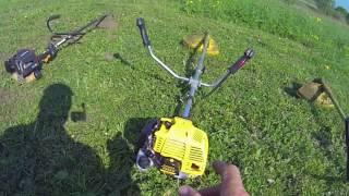 Видео 3.Тест мотокос Champion 4-х т. T334FS и 2-х т.T433-2 (автор: Kalinin)
