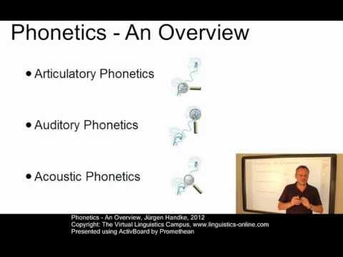PHO101 - Phonetics (Overview)