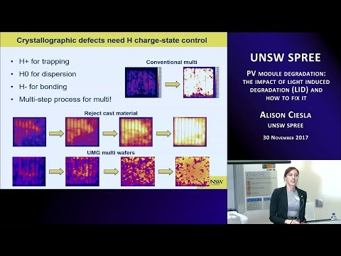 UNSW SPREE 201711-30 Alison Ciesla - PV module light induced degradation (LID) and how to fix it