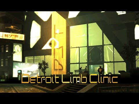 Deus Ex: Human Revolution - Detroit Limb Clinic [with music] (1 Hour of Ambience)