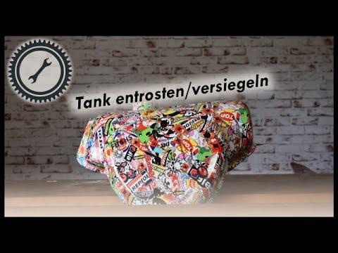 Favorit Tank entrosten und versiegeln - Simson Tutorial - YouTube DS57