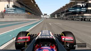 F1 2014. Analizando la dificultad. Gameplay PC. Grosjean. Abu Dhabi. Review. Settings ultra