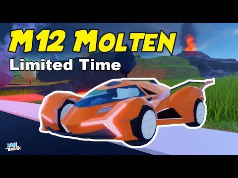Roblox Jailbreak New Molten Car Jailbreak M12 Molten Vehicle Car Revealed Volcano Event Youtube