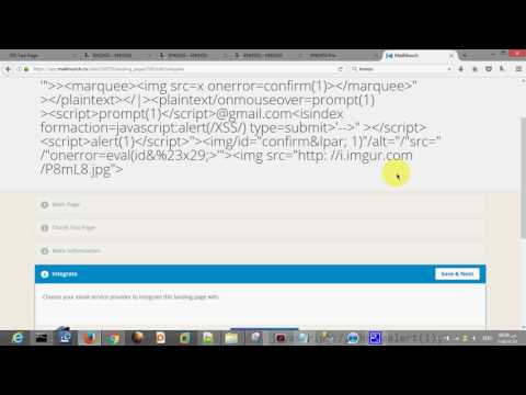 Stored XSS vulnerability in mailmunch co - YouTube